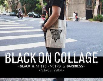 ROMANTIC AIR - Cross-body long handled,Tote bag,Everyday bag,Simple bag,100% Cotton eco bag,Skull,Bones,Rose,discount,promotion,low price