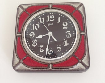 Vintage West Germany Schatz Vintage Seventies Red Ceramic Wall Clock