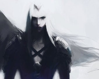 FF7: Sephiroth Art Print