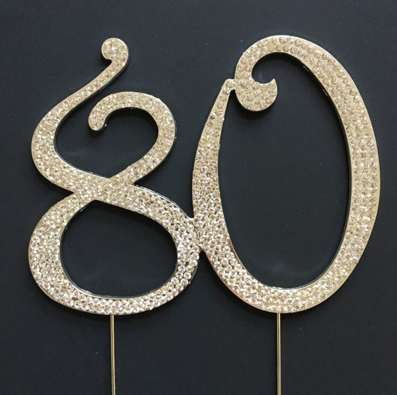 80 Cake Topper 80th Birthday or Anniversary by EllaCelebration
