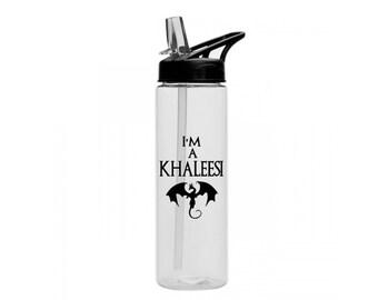 Game of Thrones Khaleesi - 24 oz - 7 Colors - GOT Water Bottle - I'm a Khaleesi - I'm not a Princess