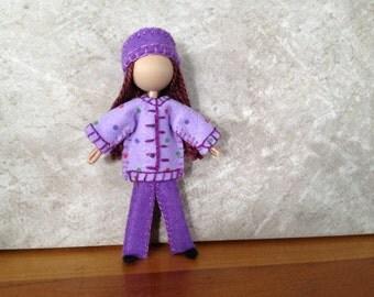 Big Sister Carly - Pocket Doll - Bendy Doll