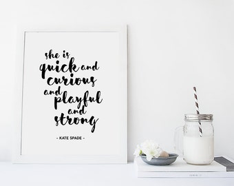 Kate Spade Quotes Best Printable Kate Spade Quote Kate Spade Print Pretty Things