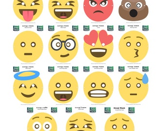 Emoji Masks (Set of 15!) - Instant Download - Printable Costume