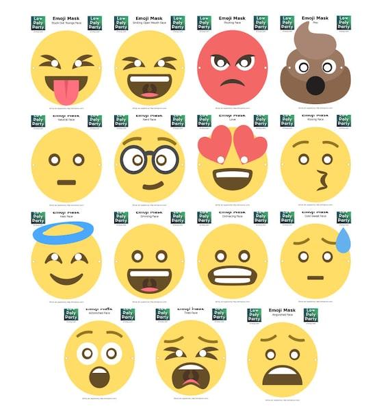 Emoji Masks Set Of 15