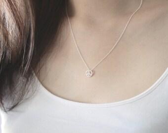 Peace Necklace, Silver Peace Necklace, Peace Jewelry, Peace Sign Necklace, Dainty Necklace, Delicate Necklace