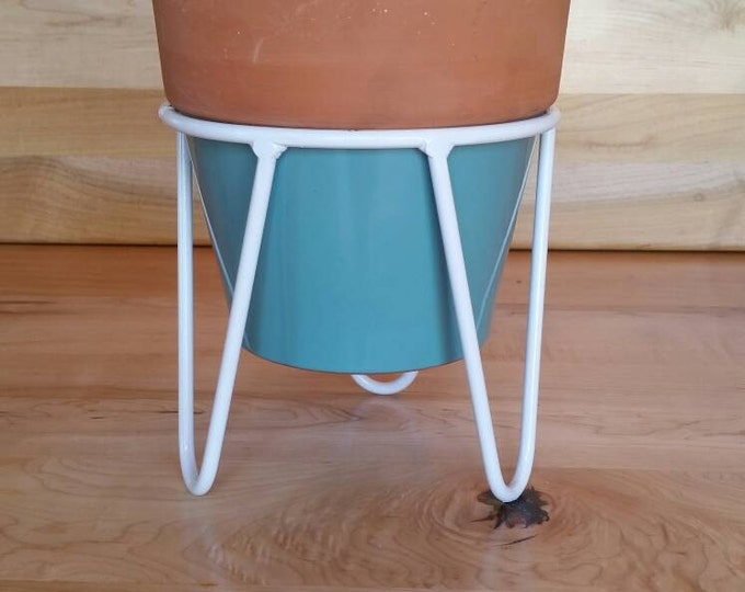 Modern Mid Century Mini Planter Stand Table Centerpiece Handmade in the USA