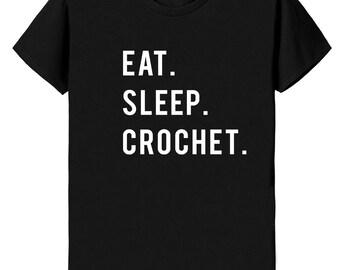 Crochet T-Shirt, Eat Sleep Crochet T-shirt - 854