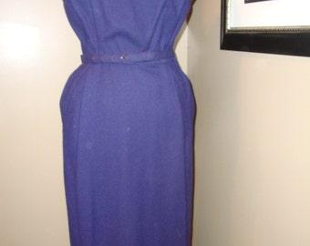 50s vintage wool wiggle dress