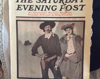 "The Saturday Evening Post September 10, 1904 ""Following Roosevelt As President"" by Senator Albert J. Beveridge"