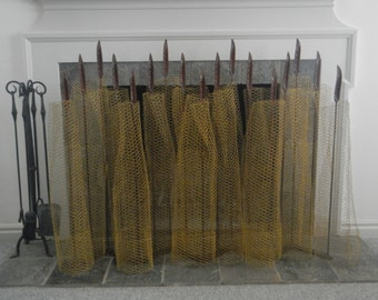 architecturally designed fireplace screen