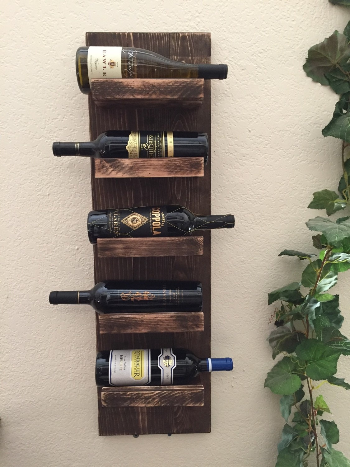 Rustic Wine Rack 5 Bottle Wine Rack Wall Mount Wine Rack