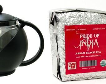 Organic Tea & Tea Pot Combo Pack