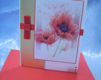 Red Poppies Greetings Card