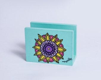"Hand painted napkin holder ""Mandala"" by Mavitos FREE SHIPPING"
