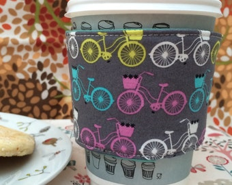 Bicycle Reversible Insulated Coffee Cup Cosy