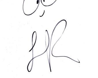 Lionel Richie Signed Sketch