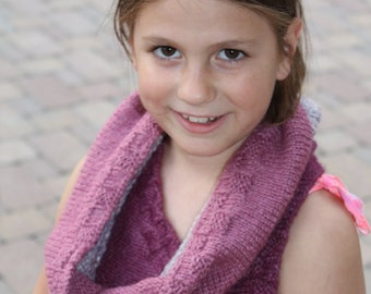 Pink and Lavender Cowl