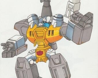Transformers Guzzle - A4 Print