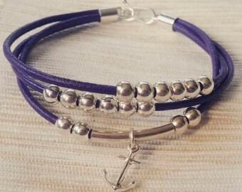 Bracelet silver anchor