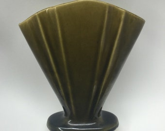 Vintage Dark Yellow/Green Vase