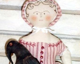 BZ304 - Matilda Whipple and Crow PDF Cloth Doll Pattern