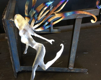 Metal art water fairy