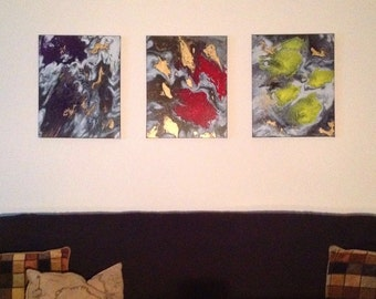 Original Abstract Painting - 3 Piece Set