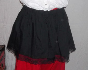 Plus Steampunk short skirt in your choice cotton colors