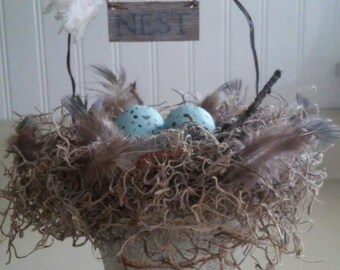 Peat Pot Decorative Nest Basket.