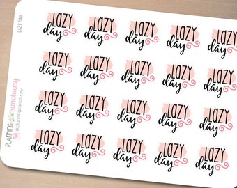 Lazy Day Planner Stickers Perfect for Erin Condren, Kikki K, Filofax and all other Planners
