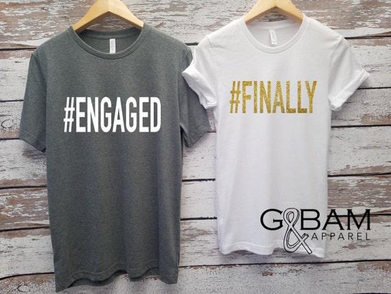 Engaged Shirt / We're Engaged / Engagement Shirt / Future Mrs Shirt