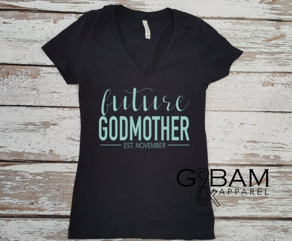 Future Godmother Shirt / You're going to be a Godmother / Pregnancy reveal / Family Pregnancy reveal