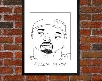 Badly Drawn Tyron Smith - Dallas Cowboysposter / print / artwork / wall art