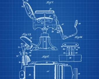 Barber Chair Patent - Patent Print, Wall Decor, Salon Decor, Barber decor,