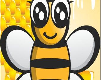 Honey Bee LAMINATED Cornhole Wrap Bag Toss Decal Baggo Skin Sticker Wraps