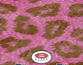 """Pink Leopard 15""""x52"""" or 24""""x52"""" Truck/Pattern Print Tree Real Camouflage Sticker Roll or Sheet"""