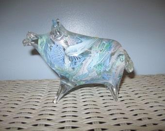 Murano Arte Glass Pig