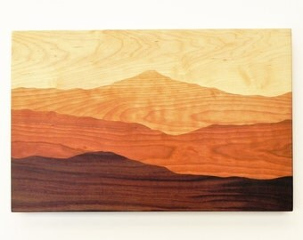 Mountain Cutting board, Mountains, Mountain View, Unique cutting board, Wedding gift, Mountain art, Mountain Ridge, Hiking Gift