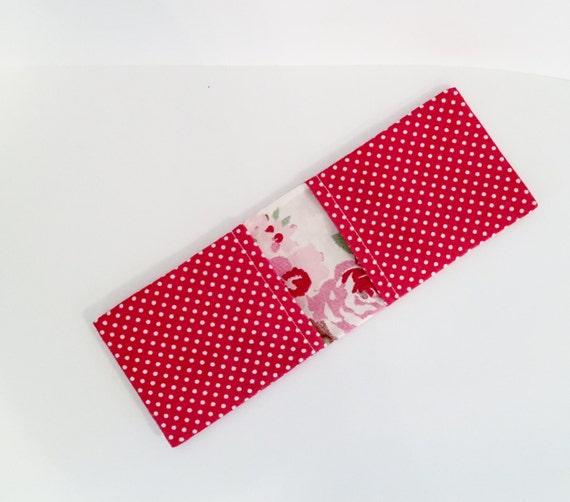 red bus pass holder  oyster card holder business card holder
