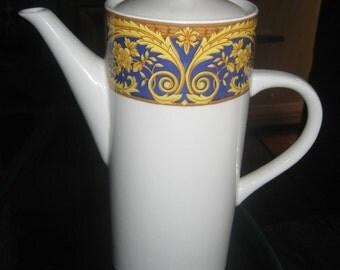 Lynns China Valetta Blue Coffee Pot