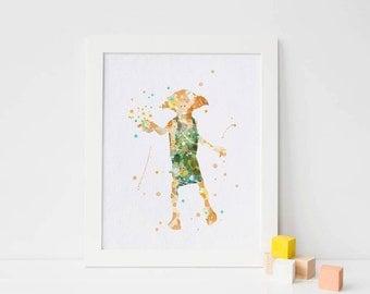 Dobby Harry Potter Dobby Print Dobby Elf Silhouette Dobby poster Dobby Wall art Dobby printable Harry Potter Gift Harry Potter printable art