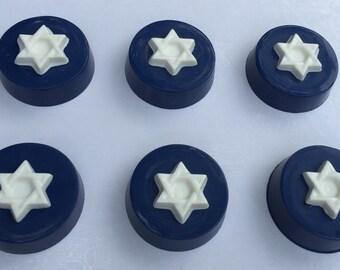 STAR of DAVID Chocolate Covered OREOS*12 Count*Bar/Bat Mitzvah Favors*Jewish Holidays*Hanukkah Favors*