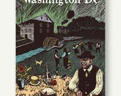 Peirce Mill - Postcards from Washington DC - Housewarming gift, Rock Creek Park, DC poster, See America, quaker illustration, picnic print