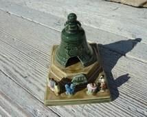 Konakovo Russian Porcelain Tsar of Bells Figurine Ornament Moscow Soviet Vintage