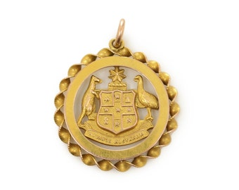 Australian Coat of Arms Medallion