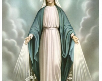 8 x10 Catholic Religious Art Print Picture of Mary as Our LADY OF GRACE - Printed in Germany
