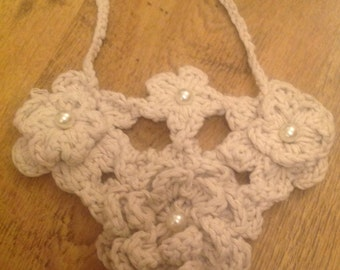 Hand made crochet necklaces