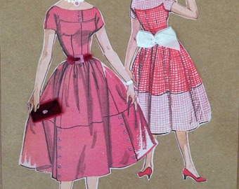 Vintage sew pattern art