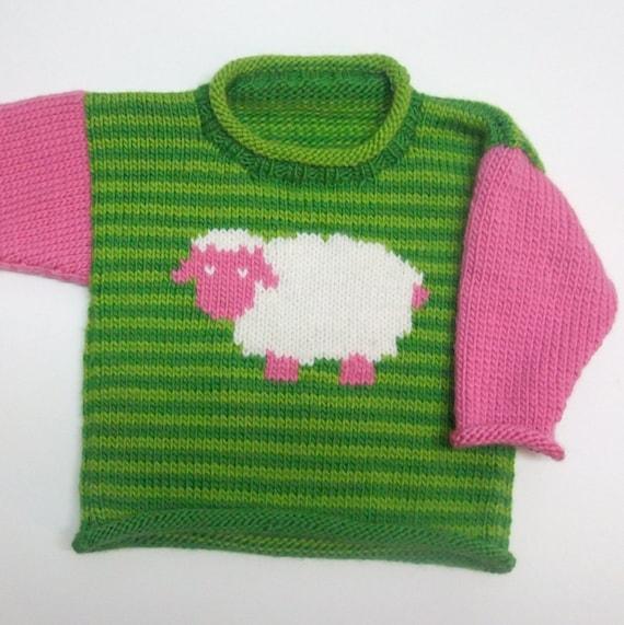 Sheep Knitting A Sweater : Sheep roll neck sweater knitting pattern